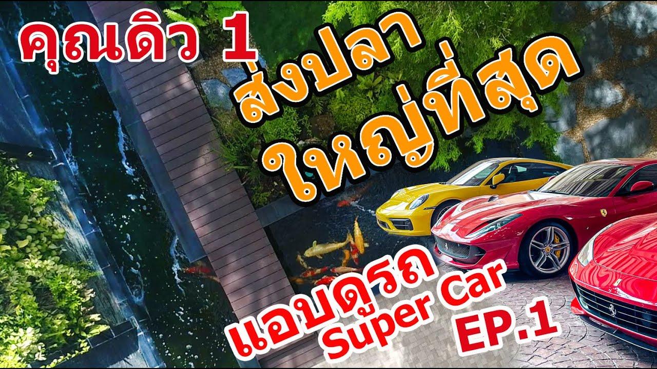 ส่งปลาคาร์พ บ้านมหาเศรษฐี EP.1 ตัวใหญ่สุดที่เคยส่ง ดูรถ Super car Lamborghini, Ferrari, Maclaren