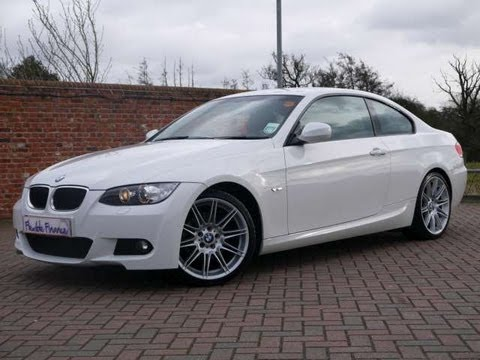 2009 bmw 320d m sport highline coupe 2d white for sale in hampshire youtube. Black Bedroom Furniture Sets. Home Design Ideas