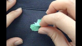Best way to remove gum from clothing (2mins. UNCUT tutorial. no trick)