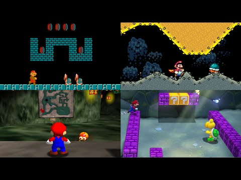 Evolution of Underground Levels in Mario games