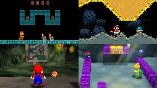 Evolution of Underground Levels in Mario games