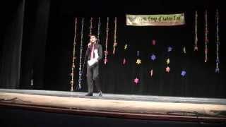 "Jay performing Swadesh song ""Yeh tara Woh Tara"" on Karaoke"