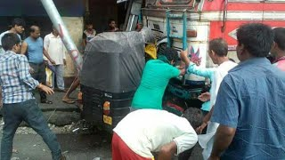 Dangerous accident in Bongaigaon,Assam,India | accident between a truck and an auto rickshaw