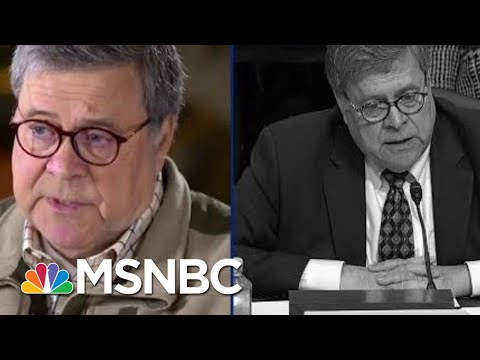 Watch Trump AG Barr Contradict Himself On Robert Mueller | The Beat With Ari Melber | MSNBC