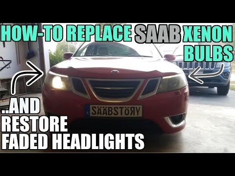 Saab Xenon Bulb Replacement & Headlight Restoration NEW