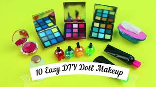 EASY DIY MINIATURE BARBIE MAKEUP