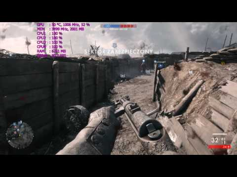 Core 2 Extreme QX6700 @ 3,62GHz vs. Battlefield 1 (Multiplayer Operations [64 Players])