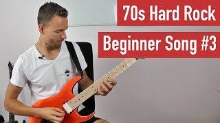 E-Gitarre lernen für Anfänger - 70s Hard Rock Beginner Song 3 | Guitar Master Plan