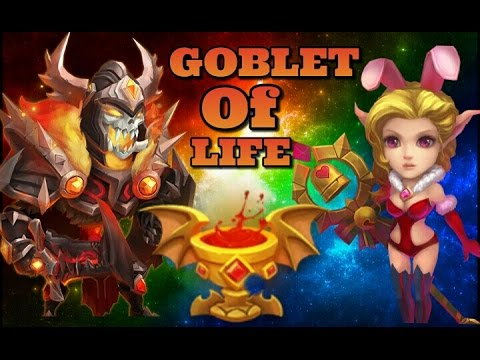 Castle Clash Overview Of The Artifact Goblet Of Life!