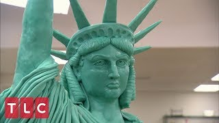Buddy Makes A Statue Of Liberty Cake Cake Boss
