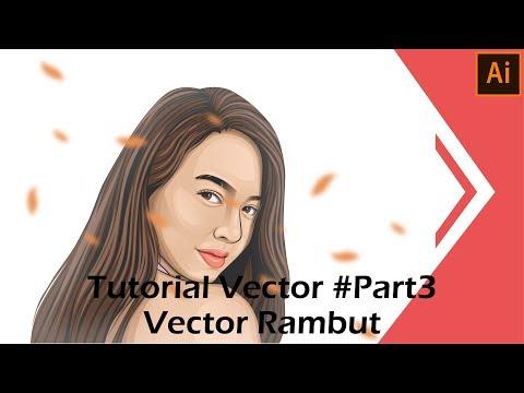 Tutorial Vector Menggunakan Adobe Illustrator CC 2017 #Part3   Vector Rambut thumbnail