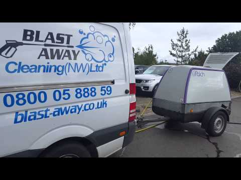 Car Dealership Jet Washing Land Rover Manchester