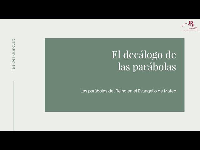 El decálogo de las parábolas