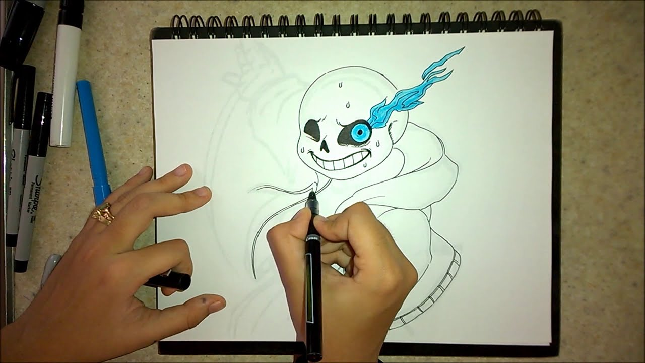 How to draw Sans YouTube