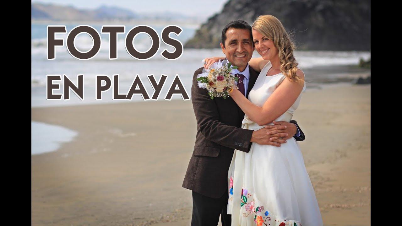 Matrimonio Simbolico En La Playa Peru : Sesión de fotos en la playa para bodas youtube
