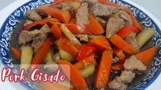 PORK GISADO with carrot and potato  Simpleng Luto lang na mas pinasarap