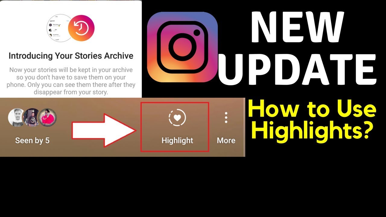 Instagram highlights how to use new update youtube instagram highlights how to use new update ccuart Gallery