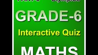 Online Math Olympiad Interactive Quiz For Sixth Class