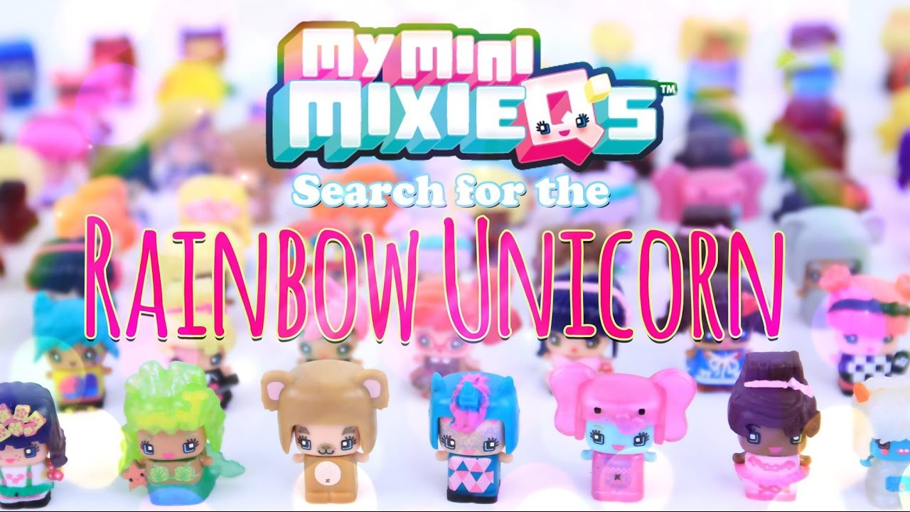 Unbox daily my mini mixie qs search for the rainbow unicorn mega unboxing 4k