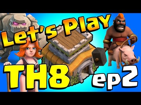 Clash of Clans: Let's Play TH8! ep2 - Awesome Farming Base!