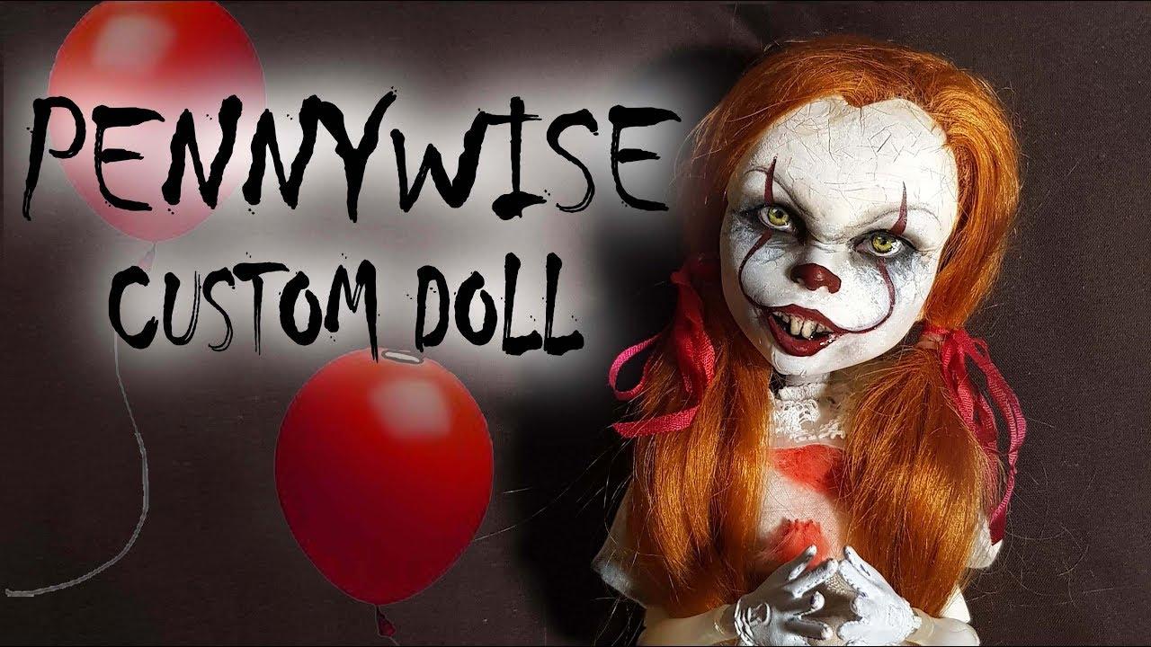 Pennywise Inspired Custom Doll Tutorial // DIY Halloween u0027ITu0027 Clown Repaint  sc 1 st  YouTube & Pennywise Inspired Custom Doll Tutorial // DIY Halloween u0027ITu0027 Clown ...