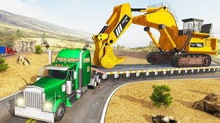 Construction Machines Transporter Excavator - Truck , Truck Vehicles Transport - Android GamePlay HD