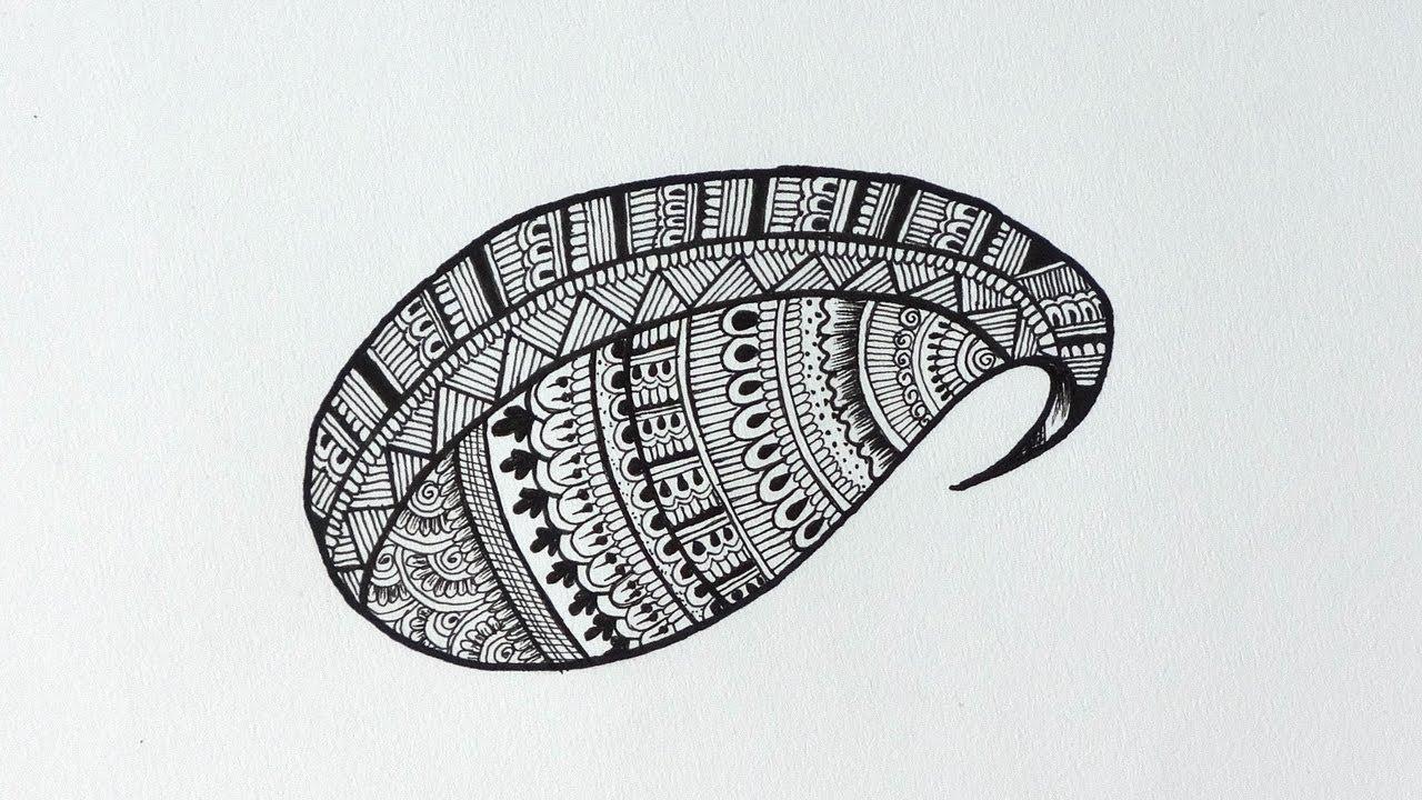 paisley pattern doodle youtube