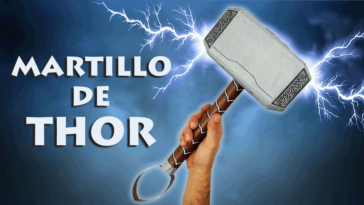 Diy Martillo De Thor O Mjolnir Cómo Se Hace Manualidades Reciclaje Te Digo Cómo Youtube