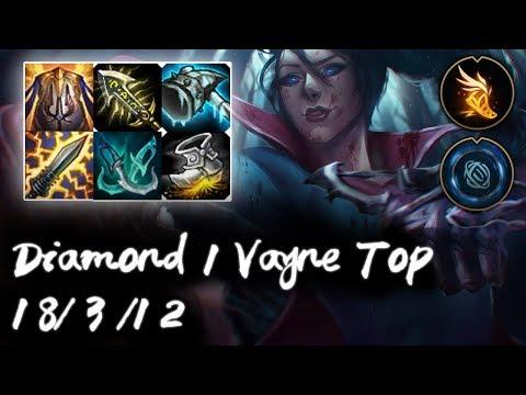 Diamond 1 Vayne Top vs Shen | Tank destroyer | Korea High Elo