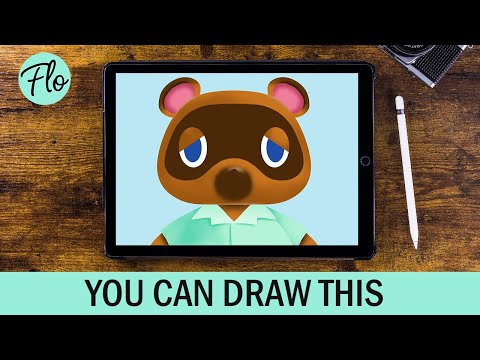 ANYONE Can Draw ANIMAL CROSSING Tom Nook | Drawing Animal Crossing New Horizons