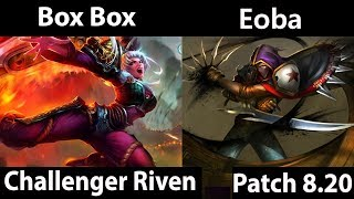 [ Box Box ] Riven vs  Talon [ Eoba ] Top  - Box Box Riven Stream