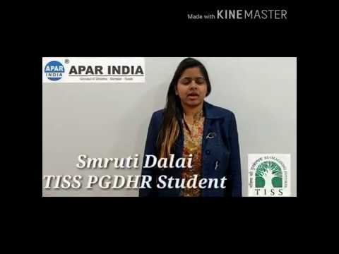 Smruti Dalai Student of PGDHR & Admin @ TATA Institute of Social Sciences
