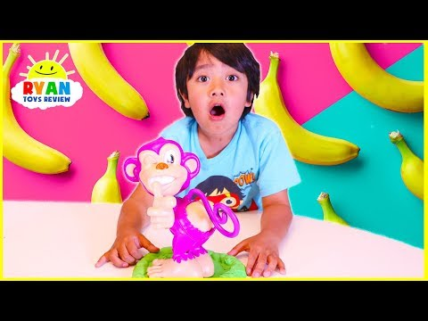 Pull My Finger Monkey game with Ryan ToysReview!!!