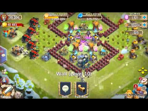 Castle Clash : Building Upgrades And Might