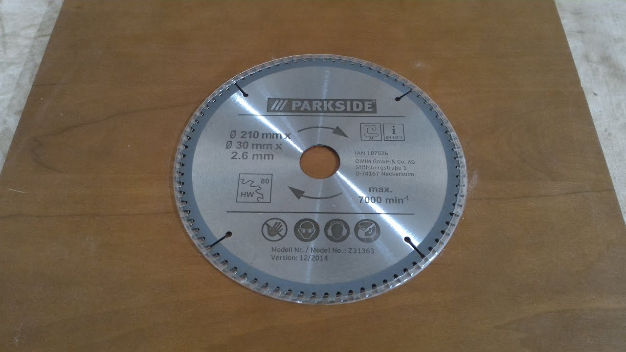 Umboxing test e recensione finale dischi da taglio legno for Lidl parkside italia