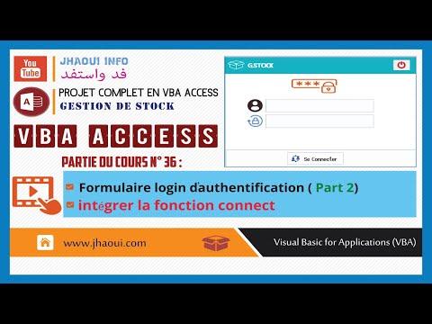 #36: VBA Access G.Stock - Login Authentication (Part02)