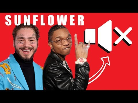 Post Malone Swae Lee - SUNFLOWER - WITHOUT MUSIC