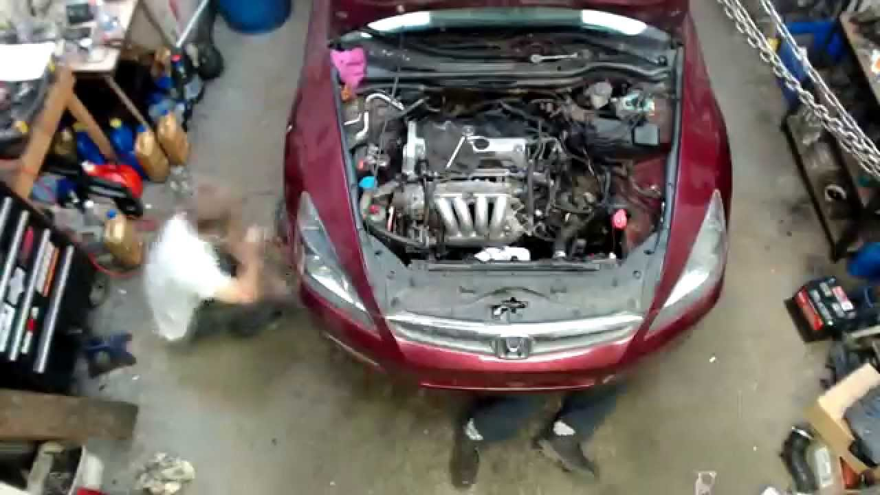 k24a2 ( acura tsx) swap in a 2003 honda accord youtube