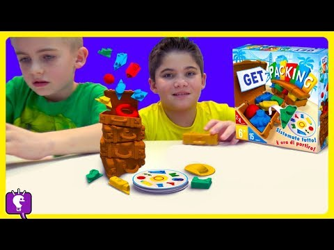 GET PACKING! Who Goes to GREECE?! Family Game Time with HobbyKidsTV
