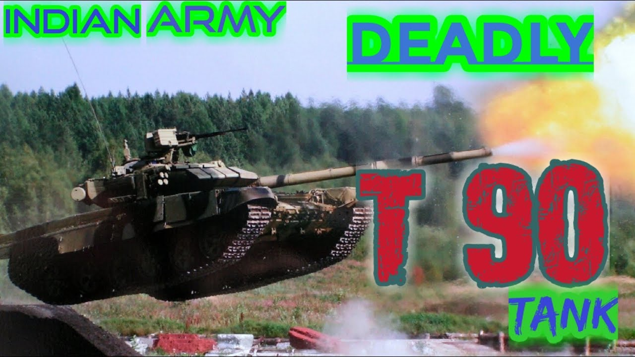 Indian Army Deadly T90 Tank in Action