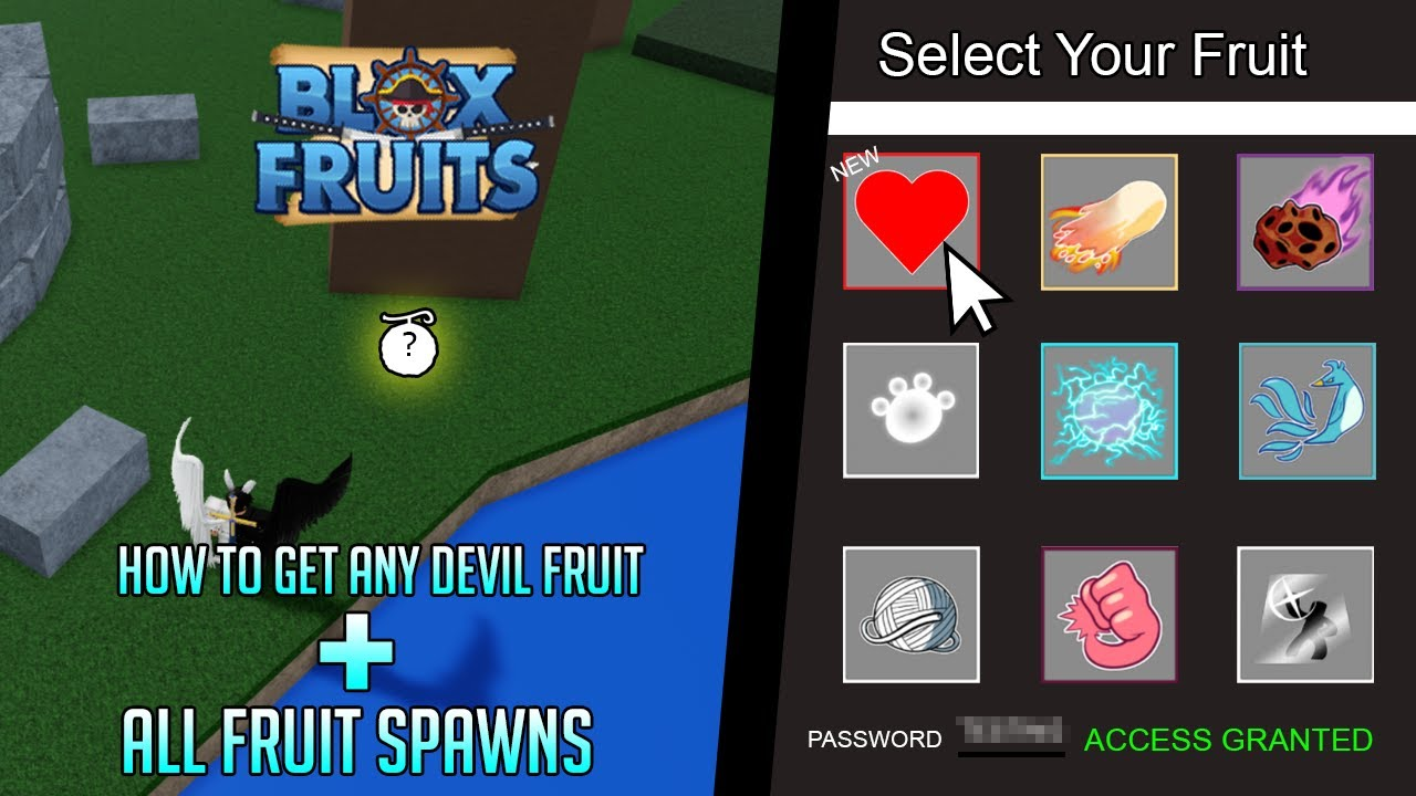 Roblox Blox Piece Demon Fruit How To Get Robux For Free Free Blox Fruits How To Get Any Devil Fruit All Fruit Spawns Youtube