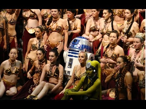 Thumbnail: HUGE Slave Leia gathering at Star Wars Celebration 2017 to honor Carrie Fisher