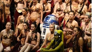 HUGE Slave Leia gathering at Star Wars Celebration 2017 to honor Carrie Fisher