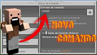 COMANDO DO NOTCH NO MINECRAFT POCKET EDITION 1.0.6 (COMMAND BLOCK)
