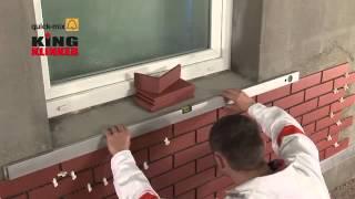 Укладывание фасада клинкерной плиткой(Особенности укладки фасада клинкерной плиткой King Klinker. В данном видео наглядно представлены особенности..., 2013-11-16T12:48:15.000Z)