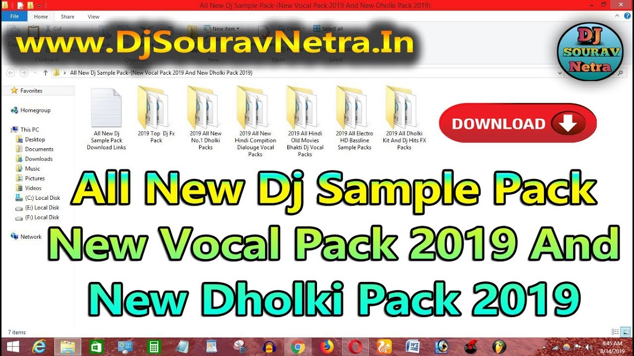 Repeat All New Dj Sample Pack-(New Vocal Pack 2019 And New