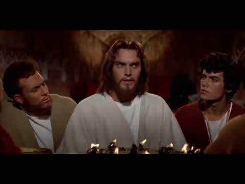 Jeffrey Hunter as Jesus in Christ's final farewell
