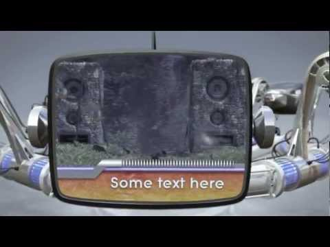 Robotic Retro TV Tube  After Effect template