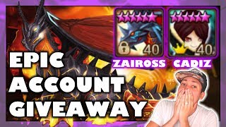 EPIC CADIZ ACCOUNT GIVEAWAY | Summoners War