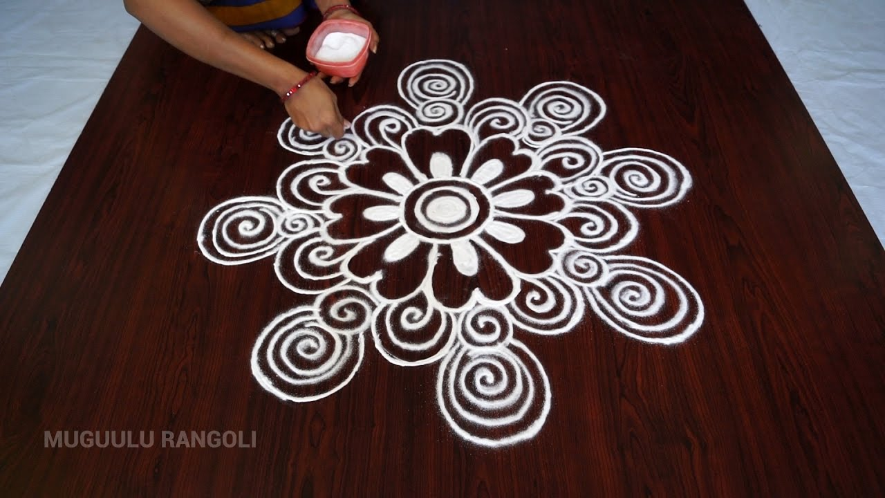 latest simple rangoli designs muggulu designs simple rangoli
